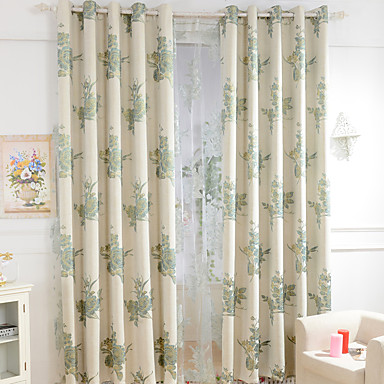 Two panels small fresh style cotton jacquard ultra thick for Diner style curtains