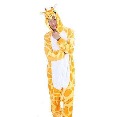 2d79688b2a Adulto Disfrace de Cosplay Pijamas Kigurumi Jirafa Pijamas de una pieza  Franela Amarillo Cosplay por Hombre