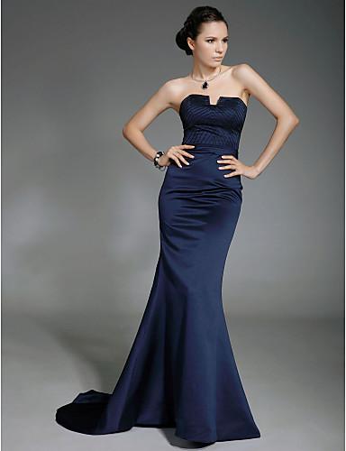 Vestido de cetim azul