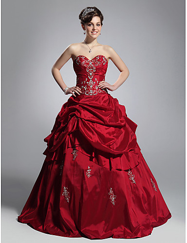 Buy TS Couture® Prom / Formal Evening Quinceanera Sweet 16 Dress - Open Back Plus Size Petite Ball Gown Strapless Sweetheart Floor-length Taffeta