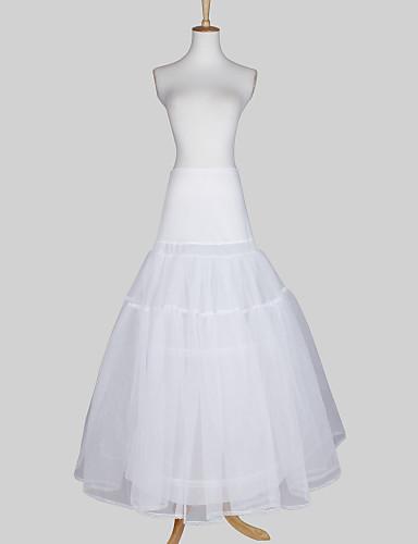 Taffeta a line full gown 2 tier floor length slip style for Full length slip for wedding dress