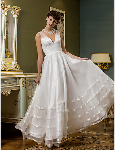 Lanting Bride A Line Petite Plus Sizes Wedding Dress