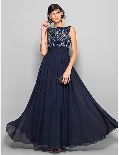 Vestido de madrinha azul escuro