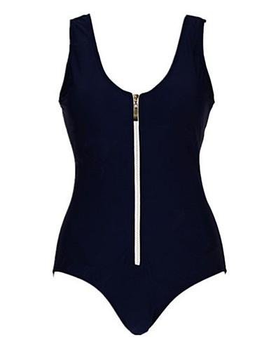 moda sexy azul marino oscuro diseño de la cremallera de una sola ...