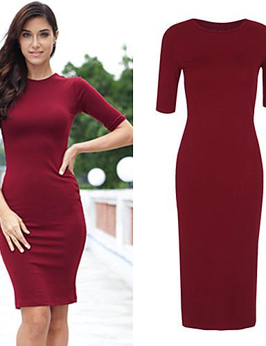 Длинные обтягивающие платья до колена