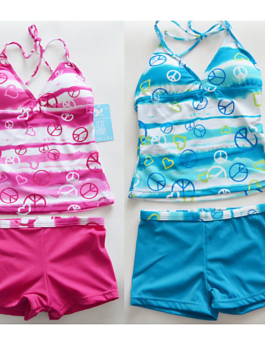 Retail Swimsuit Swimwear 6-16Y kids students teenagers Bathing Suit Tankini Beachwear