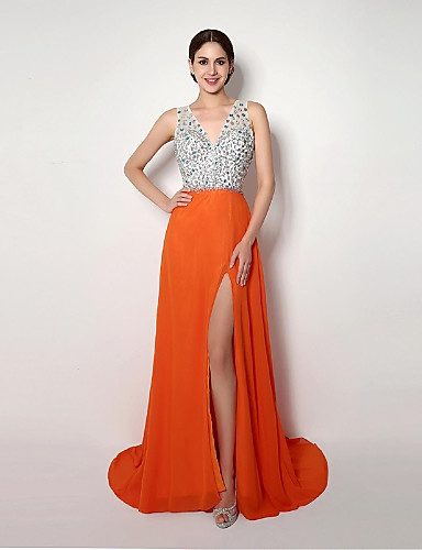 Vestidos longos laranjas