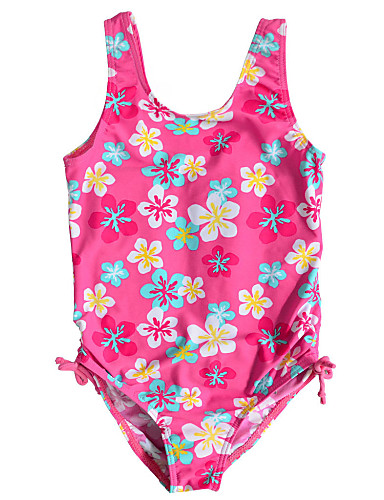 Buy Kids Girl's Multi-color 1pc Summer Swimwear Floral Polyester / Nylon Swimming Wear Tankinis 1~6Year Baby Girls