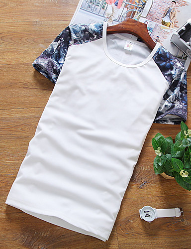 Buy Men T shirt Fashion Printing Sleeves T-shirts Summer Cotton Short-sleeve T-shirt Tops Tees