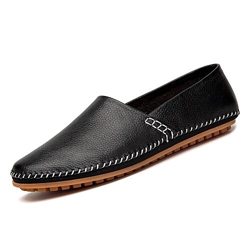 Men s Moccasin PU(Polyurethane) Spring Loafers   Slip-Ons Black   Dark Blue    Brown f1c353c6f368