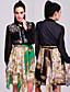 ts style baroque imprimée Robe chemise en mousseline de soie (plus de couleurs)