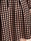 TS Simplicity Check Pattern Pleats Dress