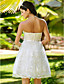 Lanting Bride® A-line / Princess Petite / Plus Sizes Wedding Dress - Chic & Modern / Glamorous & Dramatic / Reception Knee-length