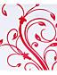 Personalizate Red florale de hârtie Petal Con - Set de 12