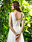 Lanting Bride® Tube / kolonne Petit / Plus Størrelser Brudekjole - Klassisk og tidsløs Børsteslæb Draperet Chiffon med