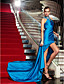 Pouzdrové Stojáček Na zem Úplet Formální večer Vojenský ples Šaty s Křišťály Boční řasení podle TS Couture®