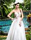 Lanting Bride® A-line Petite / Plus Sizes Wedding Dress - Classic & Timeless / Glamorous & Dramatic Simply Sublime Sweep / Brush Train
