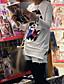 modieuze hip hop stijl modieuze ronde hals t-shirt wit