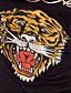 tigru imprimate față tricou negru