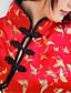 Dla kobiet Seksowna / Koszulka na ramiączkach / Kostiumy i qipao Bielizna nocna,Poliester Żakard Czerwony Obuwie damskie