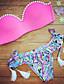 Bikini - Obuwie damskie - Frędze/Jendolity kolor - Push-up/Biustonosz z fiszbinami Nylon