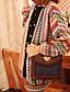 여성의 프린트 긴 소매 코트 멀티 색상 폴리에스테르 봄 중간