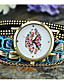 Mulheres Relógio de Moda Bracele Relógio Quartzo Tecido Banda Boêmio Preta Branco Azul Laranja Roxa Rose Preto Laranja Roxo Fúcsia Azul