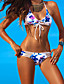 Virágmintás Megkötős Női Bikini , Push-up Poliészter