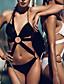 Žene Poliester Bez žice Podstavljeni grudnjak Grudnjak s tankim naramenicama Bikini Jednodijelno Jednobojni Zavoji Izrezati Jednobojni