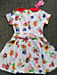 여자의 드레스 플로럴 여름 폴리에스테르 멀티 색상