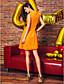 TS Couture Coquetel Baile de Fim de Ano Festa da Empresa Vestido - Curto Linha A Decorado com Bijuteria Até os Joelhos Chiffon com