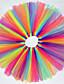 여자의 드레스 / 스커트 컬러 블럭 휴일 여름 / 봄 / 가을 면 / 폴리에스테르 블루 / 멀티 색상 / 퍼플