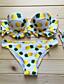 Kvinner Blomstret Halter Bikini Nylon / Spandex