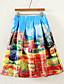 Kvinders Street Knælang Nederdele Mikroelastisk Polyester