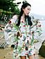 3/4 ærmelængde Kvinders Boheme Jumpsuits Uelastisk Polyester
