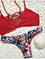 Kvinders Polyester Halterneck Blomstret Bikini
