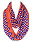 Damer Vintage / Sødt / Fest / Casual Bomuld / Polyester Halstørklæde-Trykt mønster Uendelighedshalstørklæde