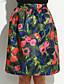 casual vintage femmes / mignon / partis / travail extensibles jupes midi moyennes (en mousseline de soie)