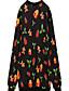 Damen Pullover Lässig/Alltäglich Einfach Druck überdimensional Rundhalsausschnitt Mikro-elastisch Baumwolle Polyester LangarmFrühling