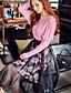 Damen Röcke,Schaukel Blumen Druck Tüll Gefaltet,Ausgehen Party/Cocktail Urlaub Vintage Boho Street Schick Hohe Hüfthöhe Knielänge
