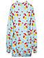 Damen Pullover Lässig/Alltäglich Einfach Druck überdimensional Rundhalsausschnitt Mikro-elastisch Baumwolle Langarm Frühling