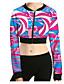 Damen Pullover Lässig/Alltäglich Sport Druck Rundhalsausschnitt Mikro-elastisch Polyester Elasthan Langarm Frühling Herbst