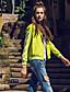 Damen Solide Street Schick Lässig/Alltäglich Jacke,Winter Rundhalsausschnitt Langarm Grün Dünn Polyester