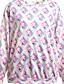 Damen Pullover Extraklein Lässig/Alltäglich Einfach Druck überdimensional Rundhalsausschnitt Fleece-Futter Mikro-elastisch Polyester