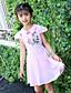 Dívka je Květinový Léto Celoročně Jaro Šaty,Krátký rukáv