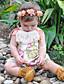 Baby Endelt Blomstret Bomull Sommer Ermeløs