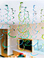 6 Piece/ Set Spiral Hang Decorations/Birthday Party Wedding Scene Layout/Hanging Decorations/Wall Decoration/Hanging Decorations