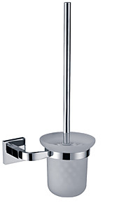 Toilet Brush Holder,Solid Brass Chrome Finish,Bathroom Accessories(0640-3206)