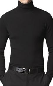 mannen fit stijl lange mouwen met col kasjmier trui