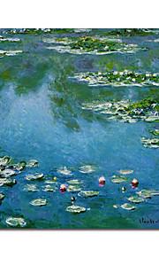 Peinture à l'huile réalisée à la main sur canevas tendu - Nymphéas de Claude Monet